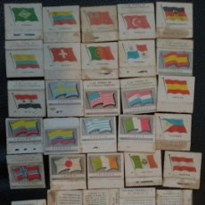 Cajas de Cerillas: LOTE DE 31 CAJAS DE CERILLAS FOSFORERA ESPAÑOLA SERIE BANDERAS . Lote 129033467