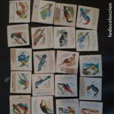 Cajas de Cerillas - Lote de 22 cajas de cerillas fosforera española serie pájaros - 129033811