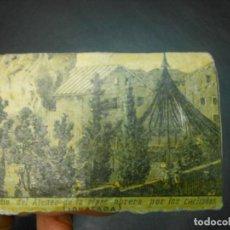 Scatole di Cerini: SIGLO XIX CAJA DE CERILLAS SUELTA INCENDIO ATENEO POR LOS CARLISTAS CARLISMO IGUALADA BARCELONA. Lote 129091927