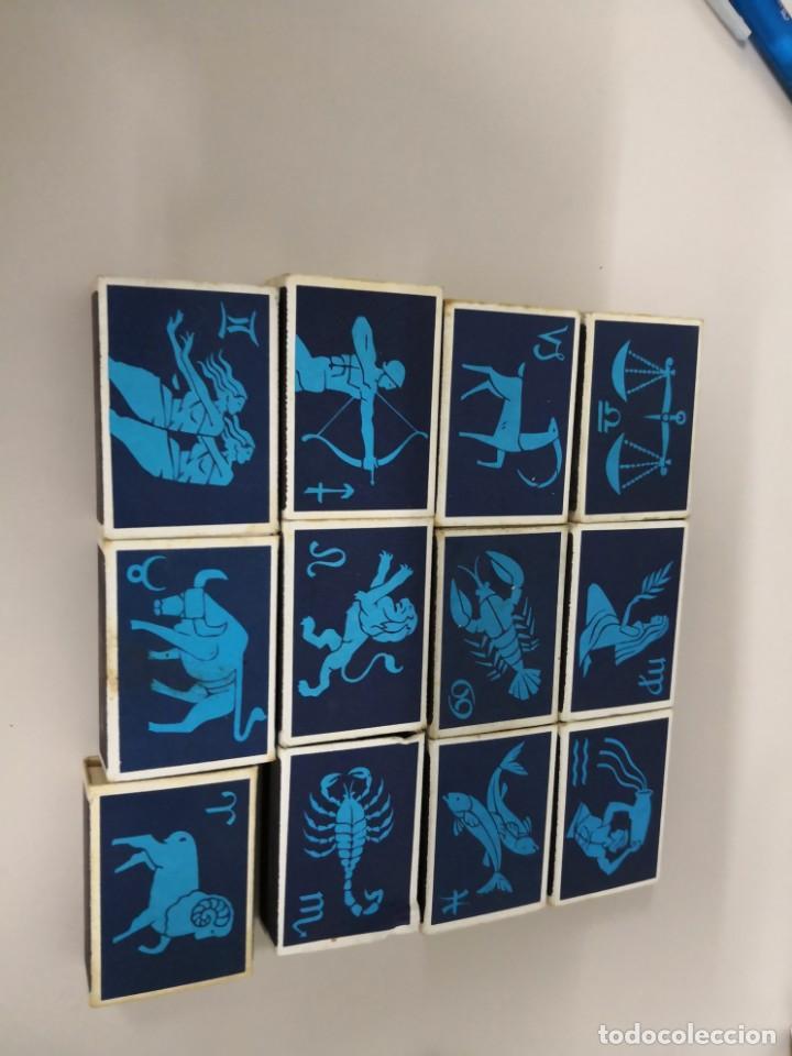 BONITA COLECCIÓN COMPLETA DE 12 CAJAS DE CERILLAS DE HOROSCOPOS DE FINLANDIA FINN MATCH (Coleccionismo - Objetos para Fumar - Cajas de Cerillas)