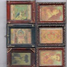 Cajas de Cerillas: 8 CUADRITOS CON REPRODUCIONES DE FRENTES DE CAJAS DE CERILLAS SIGLO XIX. Lote 130508918
