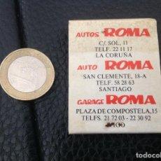 Cajas de Cerillas: CARTERITA CERILLAS PUBLICIDAD AUTOS ROMA GALICIA HERTZ FALTAN 2 CERILLAS. Lote 130551690