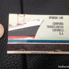 Cajas de Cerillas: CARTERA CERILLAS COMPANÍA TRANSATLANTICA ESPAÑOLA COMPLETA. Lote 130554266
