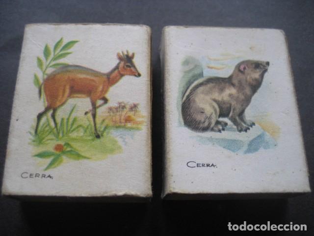 Cajas de Cerillas: 6 CAJAS DE CERILLAS CAZA MENOR. FOSFORERA ESPAÑOLA S.A. - Foto 2 - 130665453