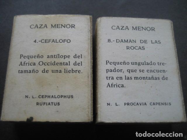 Cajas de Cerillas: 6 CAJAS DE CERILLAS CAZA MENOR. FOSFORERA ESPAÑOLA S.A. - Foto 3 - 130665453