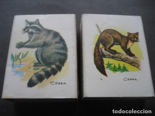 Cajas de Cerillas: 6 CAJAS DE CERILLAS CAZA MENOR. FOSFORERA ESPAÑOLA S.A. - Foto 4 - 130665453