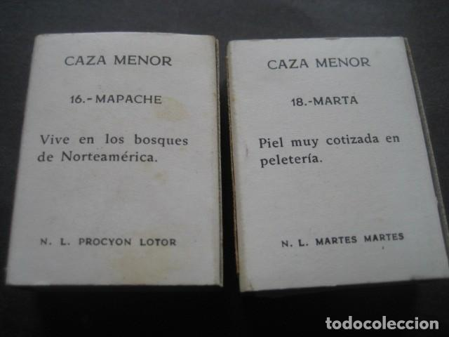 Cajas de Cerillas: 6 CAJAS DE CERILLAS CAZA MENOR. FOSFORERA ESPAÑOLA S.A. - Foto 5 - 130665453
