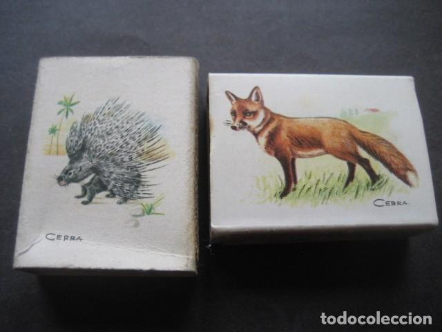 Cajas de Cerillas: 6 CAJAS DE CERILLAS CAZA MENOR. FOSFORERA ESPAÑOLA S.A. - Foto 6 - 130665453