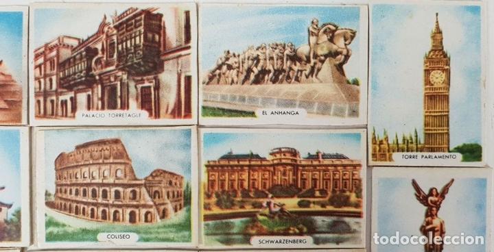 Cajas de Cerillas: COLECCIÓN DE 27 CROMOS. CAJAS DE CERILLAS. SERIE MONUMENTOS. SIGLO XX. - Foto 4 - 131770162