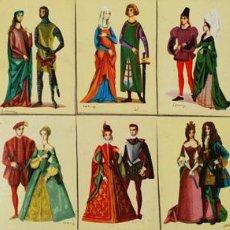 Cajas de Cerillas: COLECCIÓN DE 13 CROMOS. CAJAS DE CERILLAS. SERIE HISTORIA DEL VESTIDO. SIGLO XX. . Lote 131770670