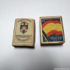 Cajas de Cerillas: ANTIGUAS CAJAS CERRILAS. HACIENDA PUBLICA. MONOPOLIO DE CERILLAS Y FOSFOROS.. Lote 131991386