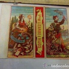 Cajas de Cerillas: ENVOLTORIO CAJA CERILLAS VIUDA DE LIZARBE E HIJOS TARAZONA ARAGÓN. PAZ Y TRABAJO.. Lote 133027798