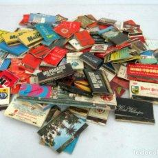 Cajas de Cerillas: INTERESANTE LOTE COLECCION AÑOS 60/70 - CAJAS DE CERILLAS HOTELES DE ESPAÑA. Lote 133418446