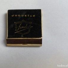 Cajas de Cerillas: CAJA DE CERILLAS - JUGUETES SENDRA DENIA. Lote 134018250