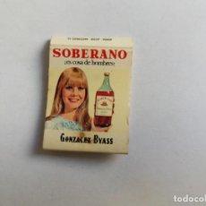 Cajas de Cerillas: CAJA DE CERILLAS - SOBERANO - GONZALES BYASS. Lote 134021018