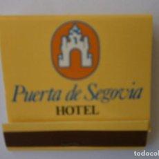 Cajas de Cerillas: 1 CAJA DE CERILLAS HOTEL PUERTA DE SEGOVIA NUEVA. Lote 134422690
