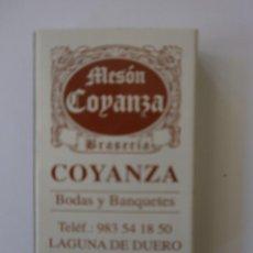 Cajas de Cerillas: 1 CAJA DE CERILLAS RESTAURANTE COYANZA LAGUNA DE DUERO VALLADOLID. Lote 134423306