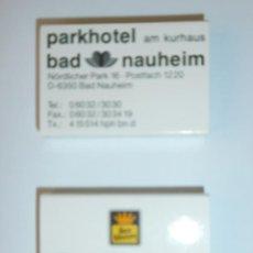 Cajas de Cerillas: 2 CAJAS DE CERILLAS HOTEL BEST WESTERN DE ALEMANIA NUEVAS. Lote 134429206