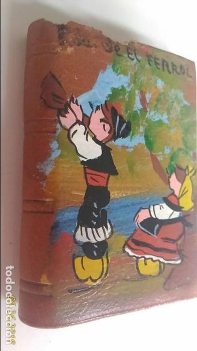 Cajas de Cerillas: Caja de cerillas doble. Recuerdo del Ferrol. Niños con trajes típicos. - Foto 5 - 134720270