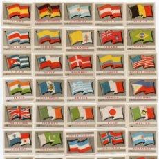 Cajas de Cerillas: CAJAS DE CERILLAS, SERIE BANDERAS 40 UNIDADES COMPLETA. Lote 134891858