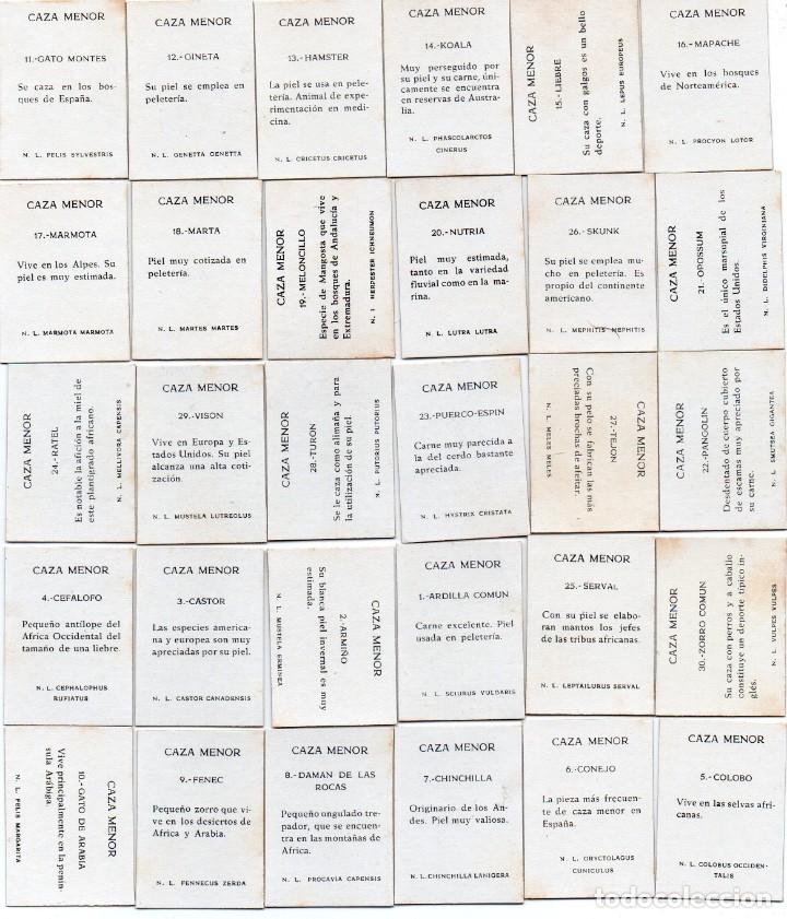Cajas de Cerillas: tapa y contratapa de cajas de cerillas, serie caza menor, 30 unidades completa - Foto 2 - 134926278