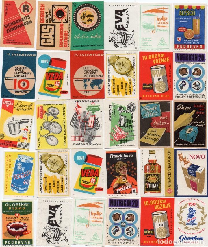 TAPAS DE CAJAS DE CERILLAS, HAY 100 DIFERENTES, EN LA FOTO HAY DOS REPETIDAS PERO YA ESTÁN CORREGIDA (Coleccionismo - Objetos para Fumar - Cajas de Cerillas)