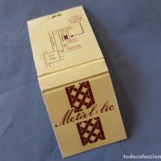 Cajas de Cerillas: DISCOTECA METAL·LIC REUS AÑOS 80 NUEVA METALIC CAJA DE CERILLAS. Lote 135290858