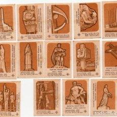 Cajas de Cerillas: TAPAS CAJAS DE CERILLAS, COMPLETA 14 UNIDADES. Lote 135296854