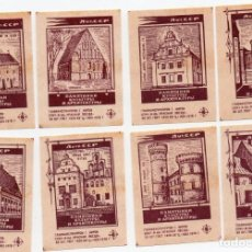 Cajas de Cerillas: TAPAS CAJAS DE CERILLAS, COMPLETA 8 UNIDADES. Lote 135300598