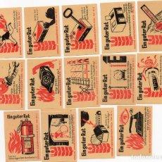 Cajas de Cerillas: TAPAS CAJAS DE CERILLAS, SERIE COMPLETA 14 UNIDADES. Lote 135341666