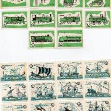 Cajas de Cerillas: TAPAS CAJAS DE CERILLAS, 2 SERIES COMPLETAS 22 UNIDADES. Lote 135393258