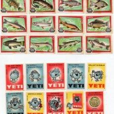 Cajas de Cerillas: TAPAS CAJAS DE CERILLAS, 2 SERIE COMPLETAS 22 UNIDADES. Lote 135395186