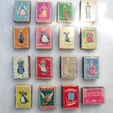 Cajas de Cerillas: CAJA DE CERILLAS. LOTE DE 16. SEITA, FRANCIA. CIRCA 1950. VACÍAS.. Lote 135712131