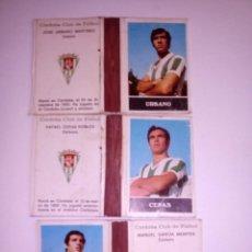 Cajas de Cerillas: LOTE 3 CAJAS CERILLAS ABIERTAS FUTBOLISTAS CORDOBA C.F.. Lote 135796650