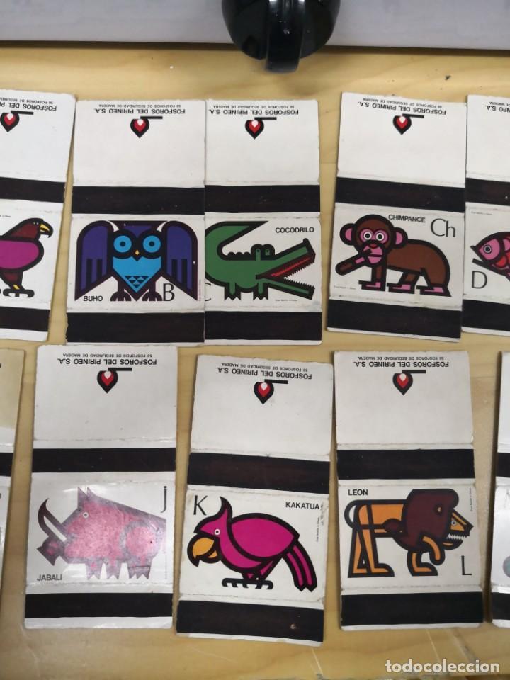 Cajas de Cerillas: Cajas cerillas Abecedario animal. 20 unidades . 1973. Fosforos del Pirineo - Foto 3 - 136239238