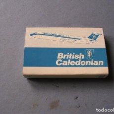 Cajas de Cerillas: CAJA DE CERILLAS AEROLINIEA BRITISH CALEDONIAN 6X4CM APROX. Lote 136279666