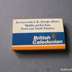 Cajas de Cerillas: CAJA DE CERILLAS AEROLINIEA BRITISH CALEDONIAN 6X4CM APROX. Lote 136279702