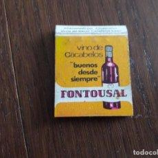 Cajas de Cerillas: CAJA DE CERILLAS DE PUBLICIDAD FONTOUSAL-BOCOVI, VINO DE CACABELOS.. Lote 136752998
