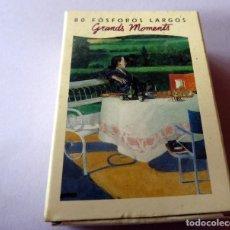 Cajas de Cerillas: CAJA DE CERILLAS 80 FÓSFOROS LARGOS - AÑOS 60/70 - GRANDS MOMENTS (VER FOTOS). Lote 137222326