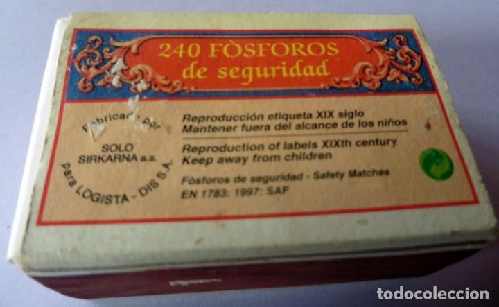 Cajas de Cerillas: CAJA DE CERILLAS 240 FOSFOROS - AÑOS 60/70 - REPRODUCCIÓN ETIQUETA SIGLO XIX (VER FOTOS) - Foto 2 - 137223186