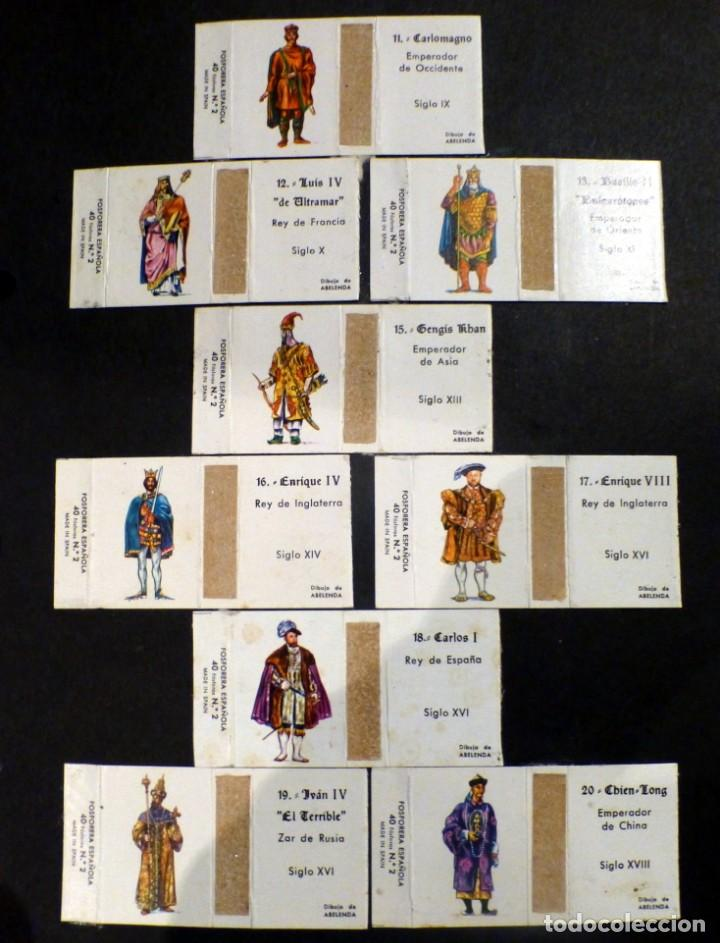 Cajas de Cerillas: cajas cerillas serie reyes históricos, dibujos abelenda falta nº 14 - Foto 2 - 137247294