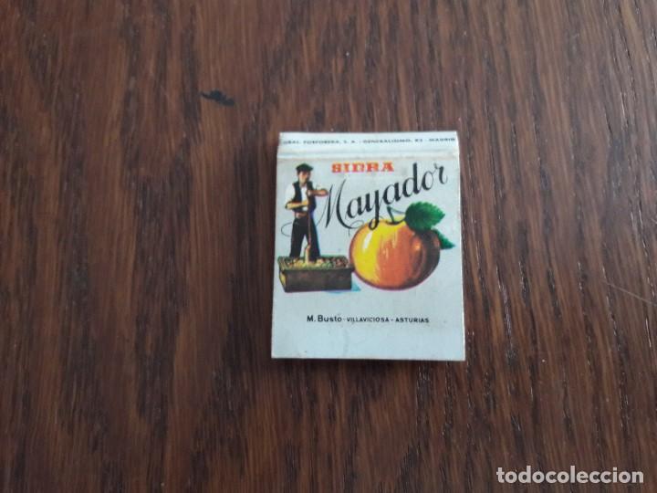 CAJA DE CERILLAS DE PUBLICIDAD SIDRA MAYADOR, VILLAVICIOSA. (Coleccionismo - Objetos para Fumar - Cajas de Cerillas)