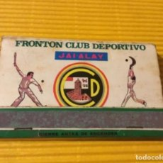 Cajas de Cerillas: CAJA DE CERILLAS ANTIGUO FRONTON CLUB DEPORTIVO JAI-ALAI. Lote 137937994