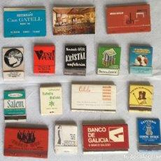 Cajas de Cerillas: LOTE DE 16 CAJAS DE CERILLAS (LOTE 6). Lote 138613758
