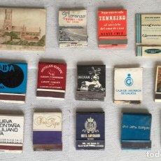 Cajas de Cerillas: LOTE DE 15 CAJAS DE CERILLAS (LOTE 17). Lote 138615926
