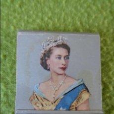 Cajas de Cerillas: CAJA CERILLAS CORONACION ELIZABETH R. 1953 DE INGLATERRA. Lote 139210326