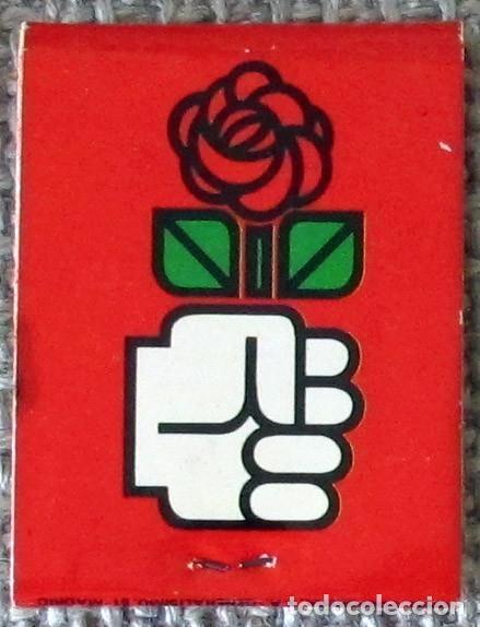 Cajas de Cerillas: Caja de cerillas tipo carterilla PSOE XXVII CONGRESO 1976, sin usar - Foto 2 - 140320810