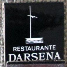 Cajas de Cerillas: CAJA DE CERILLAS TIPO CARTERILLA RESTAURANTE DÁRSENA DE ALICANTE, SIN USAR. Lote 140321662