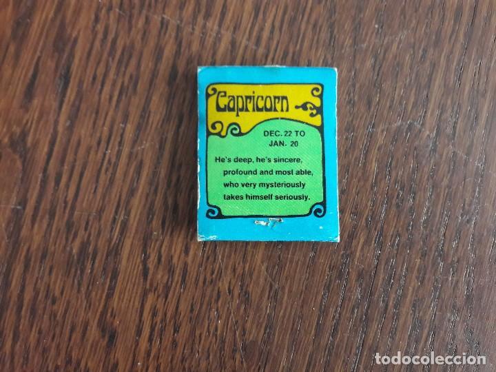 Cajas de Cerillas: caja de cerillas de publicidad extranjera horoscopos, capricornio. - Foto 2 - 140322850