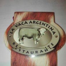 Cajas de Cerillas: CAJA CERILLAS. RESTURANTE LA VACA ARGENTINA.. Lote 140512216